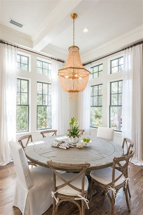 average height of dining room light for rustic decoration