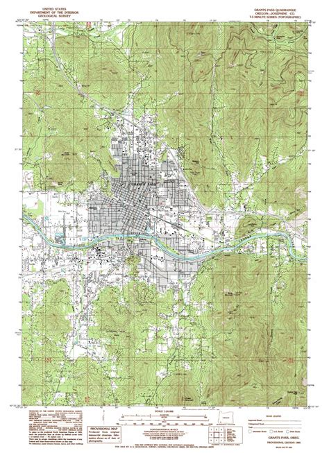 map of oregon grants pass grants pass topographic map or usgs topo 42123d3