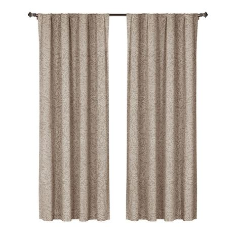 wide curtain rod window elements leila printed cotton extra wide 84 in l