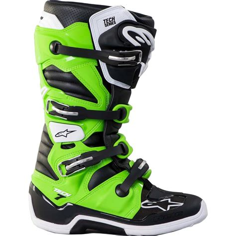 green dirt bike boots alpinestars new 2017 mx tech 7 kawasaki dirt bike black