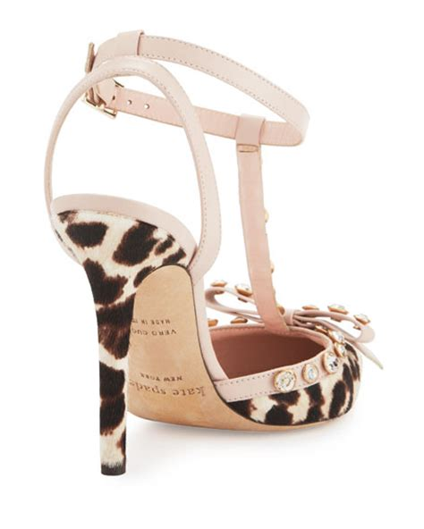 Kate Spade Lydia Leather Brown kate spade new york lydia studded calf hair blush brown leopard