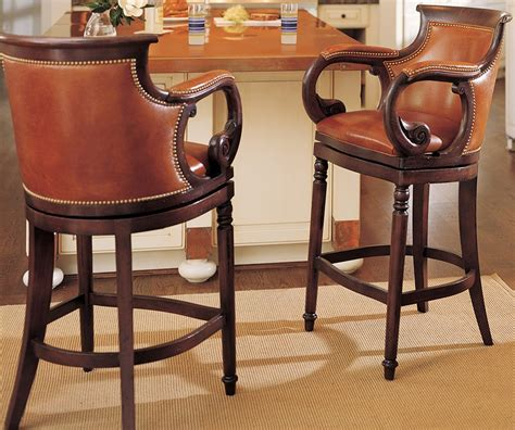 luxury leather bar stools leather swivel bar stools