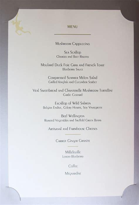 gordon ramsay dinner menu kevineats gordon ramsay at the west ca