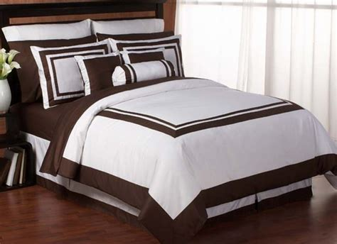 white hotel comforter white and chocolate hotel duvet comforter cover 6 pc