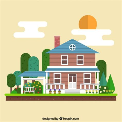 house free geometric house illustration vector free