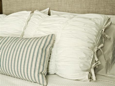 Pillow Sham by How To Sew Ruched Fabric Pillow Shams Hgtv