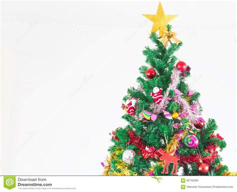 colorful tree ornaments tree with colorful ornaments stock photo image