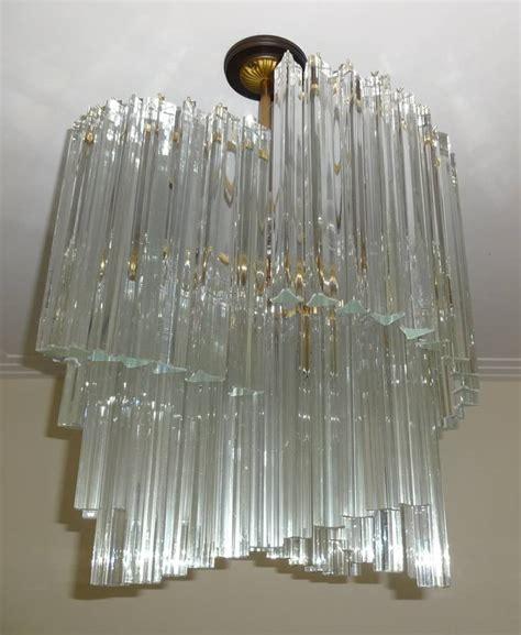 Glass Rod Chandelier Venini Mid Century Glass Rod Chandelier At 1stdibs