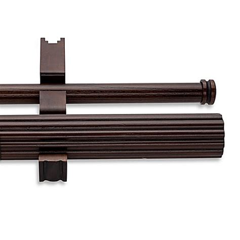 cambria wood curtain rods cambria 174 estate wood double fluted curtain rod in