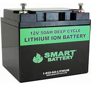 12V 50 AH Lithium Ion Battery  Deep Cycle