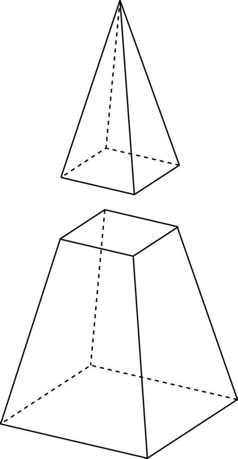 rectangular pyramid cross section rectangular pyramid cut by plane clipart etc