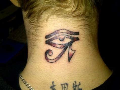 tattoo eye on neck eye of horus tattoo on back neck tattooshunt com