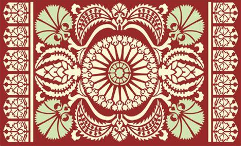 Ottoman Pattern Traditional Pattern Ottoman Stencil Design From Stencil Kingdom