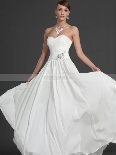 wedding dress with strapless scalloped bodice a line chiffon wedding gown
