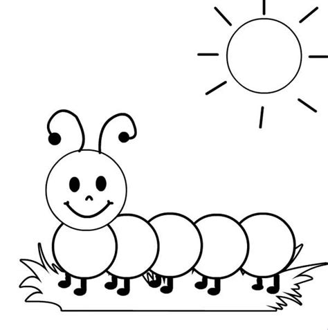 Caterpillar Coloring Pages free caterpillar to butterfly coloring pages