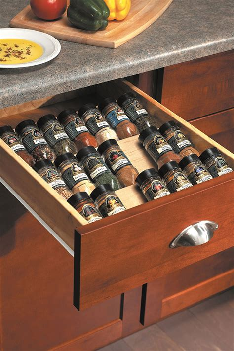Spice Rack Drawer Insert by Wood Spice Drawer Cabinet Insert Homecrest