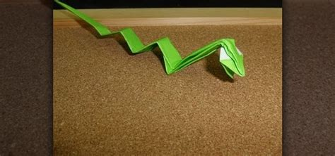 Snake Origami - how to fold an origami snake from the zodiac