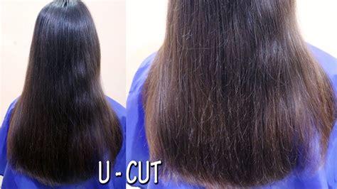 hairstyles u cut hair u cut hairstyle long layared u shape ladies haircut
