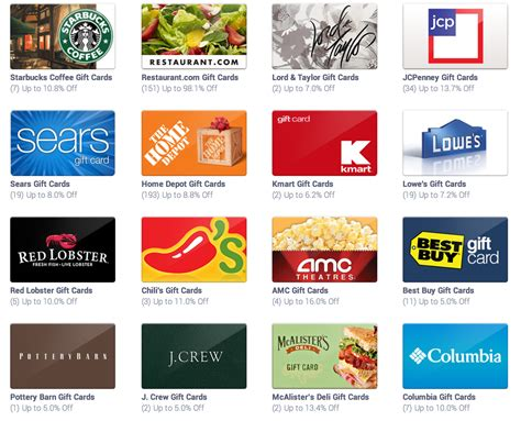 Starbucks Discount Gift Cards - awesome discounted gift cards to places like lowe s jc penney claire s starbucks