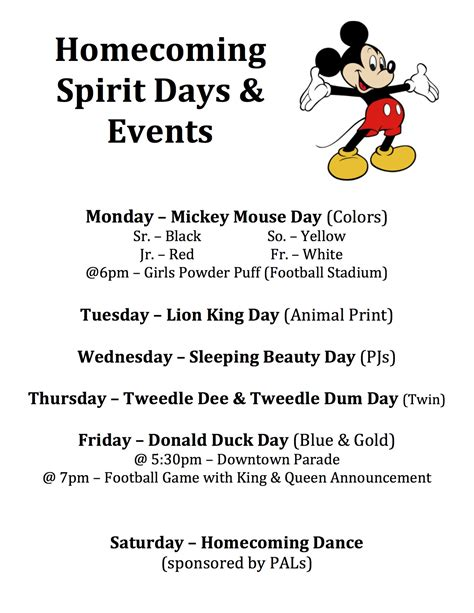 cute themes for homecoming week homecoming spirit week 2012 grandledgefootball com