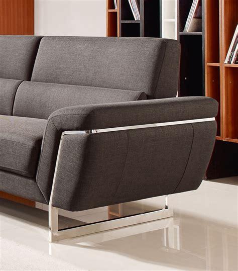 divani casa smith modern brown fabric sectional sofa divani casa navarro modern brown fabric sectional sofa