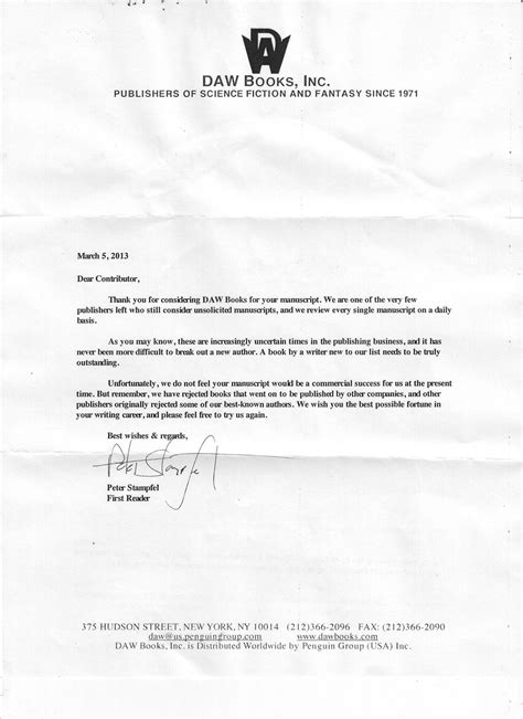 Rejection Letter Manuscript Well I Received My Rejection Letter And Feeling A Depressed How Do Others Deal