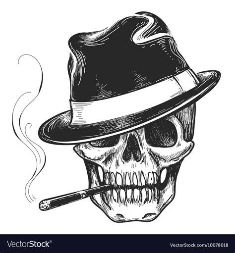 gangster skull tattoos gangster skull royalty free vector image