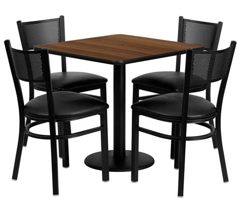 breakroom table and chairs btod 30 quot square top dining height breakroom table w chairs