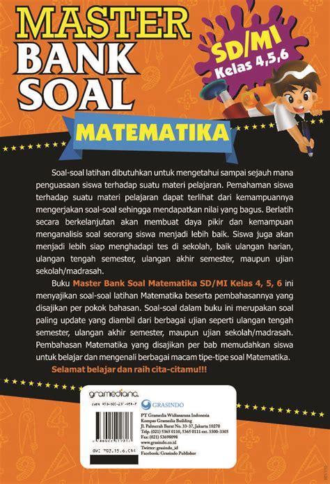 Big Bank Matematika Sd Kelas 456 jual buku master bank soal matematika sd kelas 4 5 6 oleh