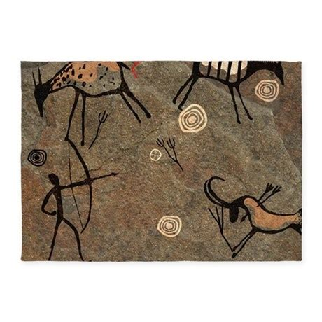 cave rug cave painting 5 x7 area rug by admin cp38654906
