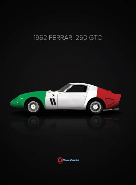 Ferrari From Which Country by Classic Cars And Their Country Of Origin Poster Series