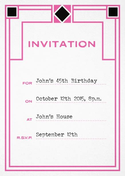 How To Fill Out A Birthday Card Invitation