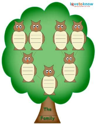 preschool family tree template family tree template for lovetoknow