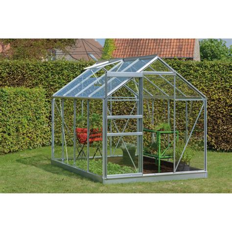 serre de jardin en verre 2804 serre de jardin en verre tremp 233 rainbow 4 96 m 178 leroy