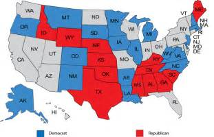 us map of republican and democratic states 2014 u s senate seats up for election in 2014 ford o connell