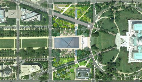 layout of dc mall gallery of national mall design winning proposal
