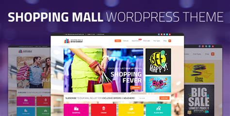 wordpress theme center layout shopping mall entertainment shopping center business