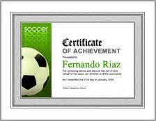 Soccer Award Certificate Template Soccer Awards Certificate Template Soccer Award