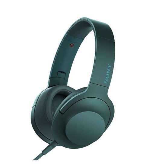 buy sony mdr 100aap on ear hi res audio headphones viridian blue at best price in india