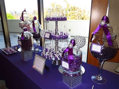 12 best images about purple candy dessert table on