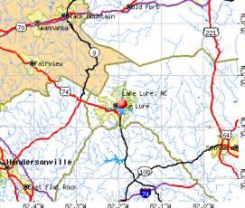 lake lure carolina map jacksonville carolina nc profile population
