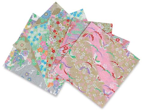 Chiyogami Origami Paper - aitoh shinwazome chiyogami origami paper blick materials