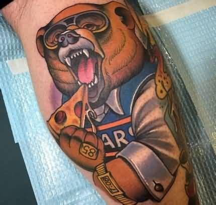 cartoon bear tattoo designs 25 best ideas about chicago bears tattoo on pinterest