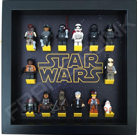 figure frame wars lego minifigure display frame frame