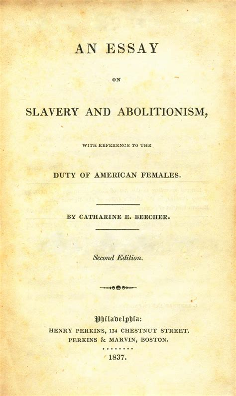 Essay On Slavery And Abolitionism slavery abolition in the us