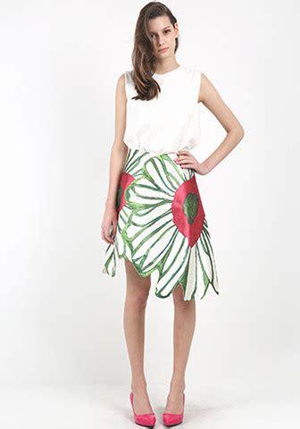 big flower overlap skirt