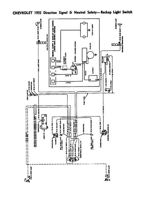 1955 chevrolet steering column wiring diagram wiring