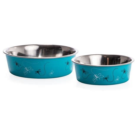 puppy bowls loving pets loving pets bowl with rubber base dragonfly turquoise bowls