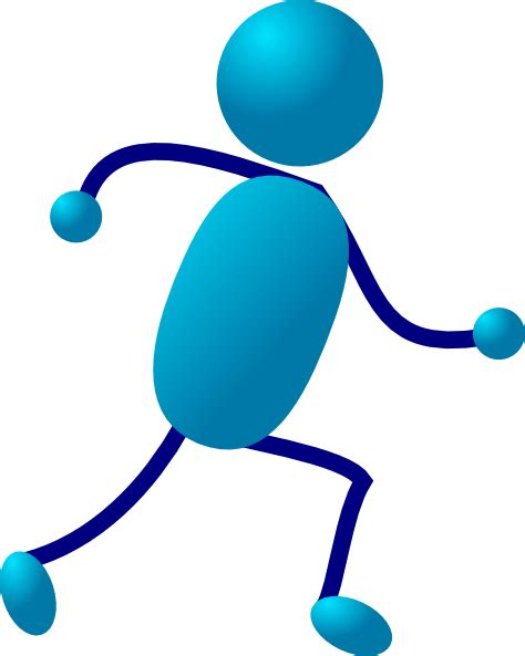 Person Running Clipart stick running clip at clker vector clip royalty free domain