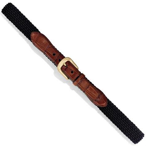 Belt Croco Beige by Elastic Cord W Croco Belt Belts